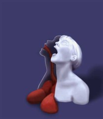 Hinged Bust - Spilt Lungs, digital print, 2011